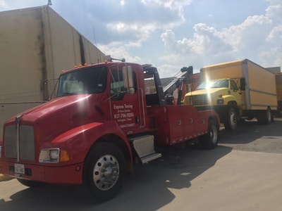 Box truck towing services in Grand Prairie, Texas