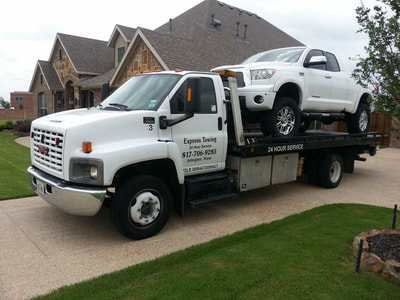 Flatbed towing by Express Towing Arlington, Texas