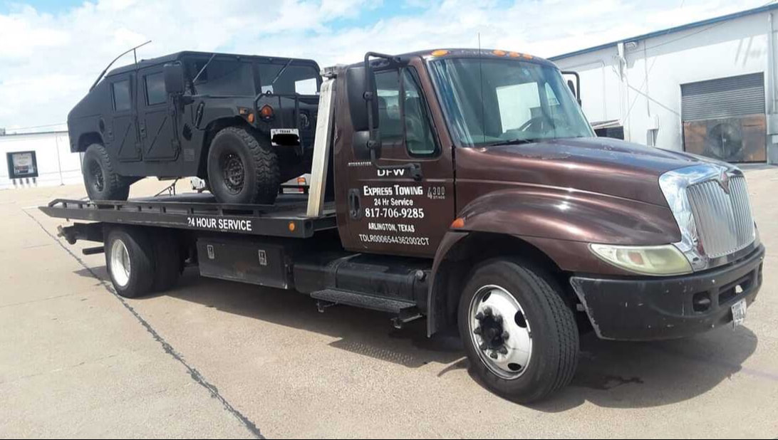 Flatbed towing in Arlington TX