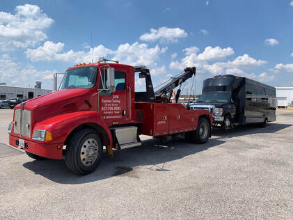 Bus towing services in Arlington, Mansfield, Grand Prairie