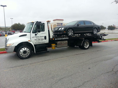 Flatbed towing from Express towing Arlington, Texas